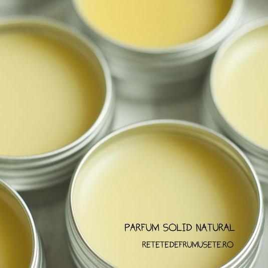 Parfum solid handmade din ingrediente naturale
