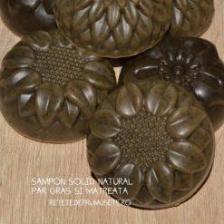 Șampon solid natural pentru păr cu mătreață și tendințe de îngrășare