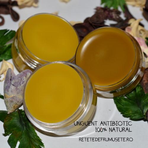 Unguent antibiotic, produs 100% natural, cicatrizant, antiinflamator și emolient