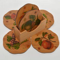 Set suport pentru căni și pahare pentru protecție mobilier și față de masă